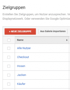 Dynamisches Remarkting Adwords Zielgruppen