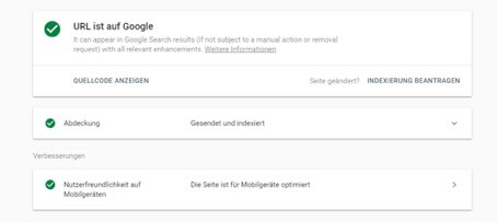 Neue Search Console Analyse