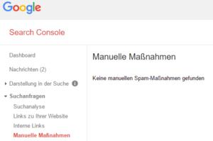 Manuelle Maßnahme in der Search Console