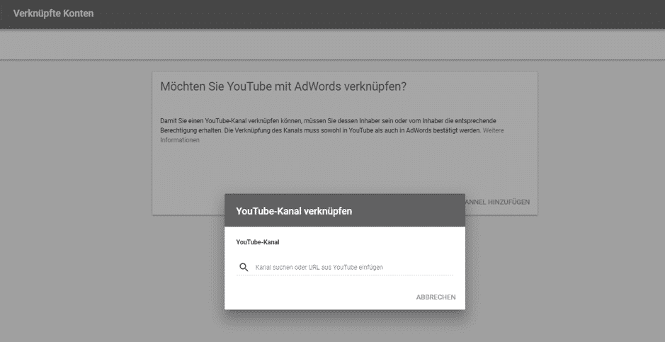 Youtube Adwords Verknüpfung 2